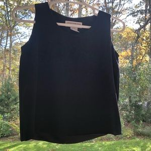 Jones NY black sleeveless top